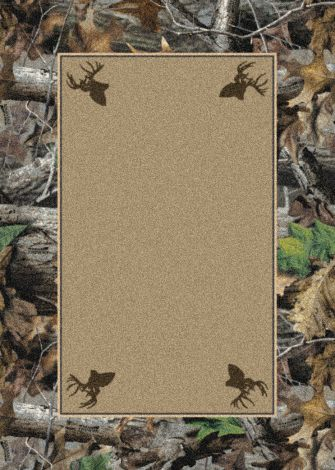 New Timber Solid Center Realtree Collection Area Rug