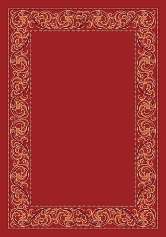 Sonata Indian Red Modern Times Collection Area Rug