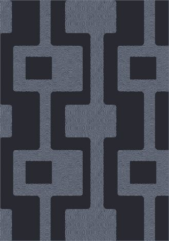 Uptown Ebony Modern Times Collection Area Rug