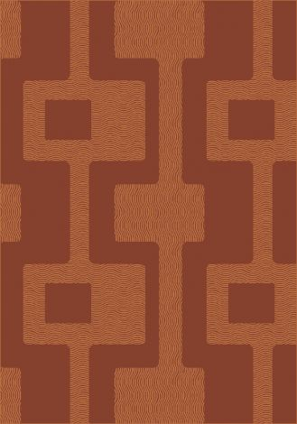 Uptown Fall Orange Modern Times Collection Area Rug