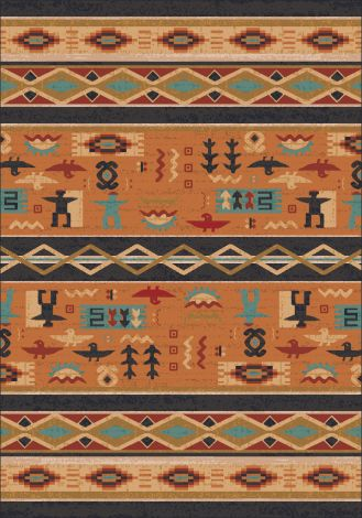 Wide Ruins Smog Pastiche Collection Area Rug