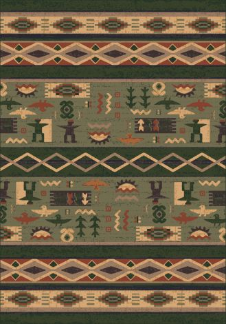 Wide Ruins Autumn Forest Pastiche Collection Area Rug