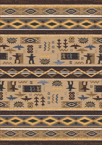 Wide Ruins Velvet Brown Pastiche Collection Area Rug