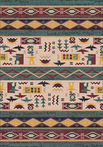 Wide Ruins Hazy Forest Pastiche Collection Area Rug