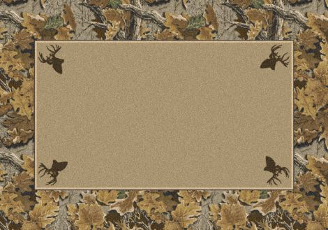 Advantage Solid Center Realtree Collection Area Rug