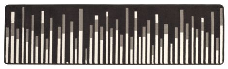 Sound Wave Grayscale In the Moment Collection Area Rug
