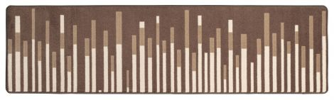 Sound Wave Sepia In the Moment Collection Area Rug
