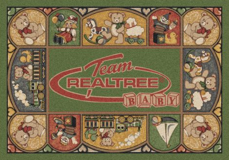 Realtree Baby Teddy Bear Green Realtree Collection Area Rug