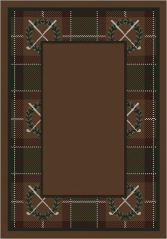 Country Club Border Spirit Theme Rugs 2 Collection Area Rug