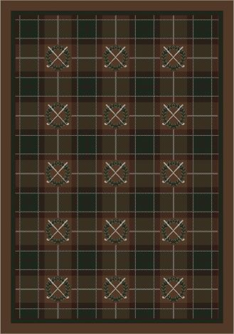 Country Club Field Repeat Theme Rugs 2 Collection Area Rug