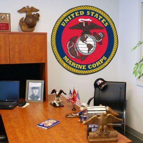 """U.S. Marines 44"""" Round Mat"""