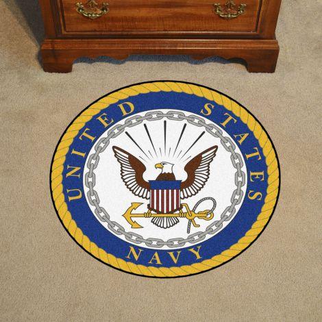 """U.S. Navy 44"""" Round Mat"""