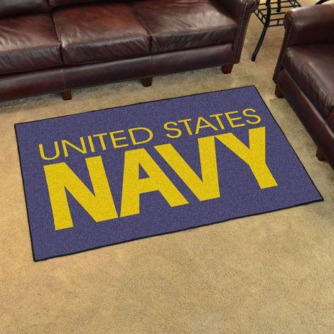 U.S. Navy America's Navy 4x6 Plush Rug