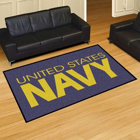 U.S. Navy America's Navy 5x8 Plush Rug