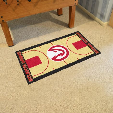 Atlanta Hawks NBA Court Large Runner