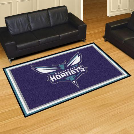 Charlotte Hornets NBA 5x8 Plush Rug