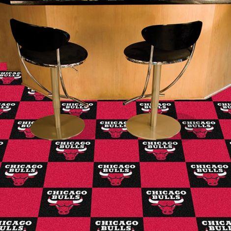 Chicago Bulls NBA Team Carpet Tiles