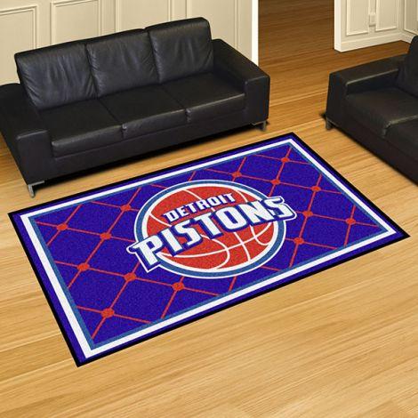 Detroit Pistons NBA 5x8 Plush Rug