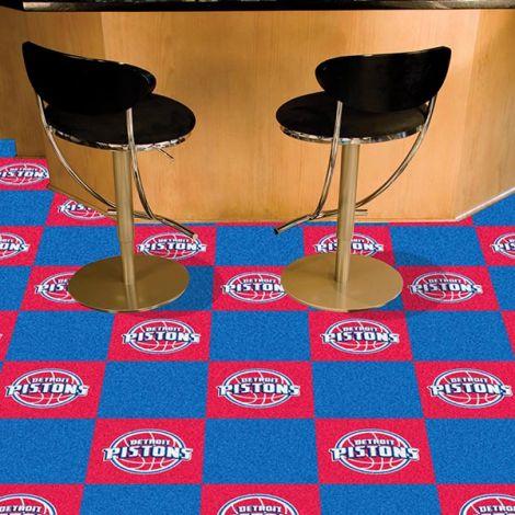 Detroit Pistons NBA Team Carpet Tiles