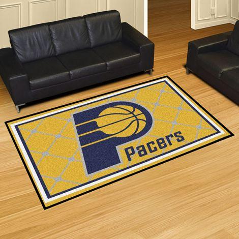 Indiana Pacers NBA 5x8 Plush Rug