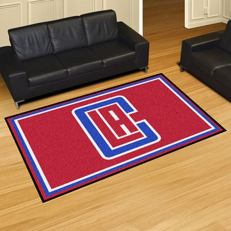 Los Angeles Clippers NBA 5x8 Plush Rug