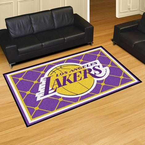 Los Angeles Lakers NBA 5x8 Plush Rug