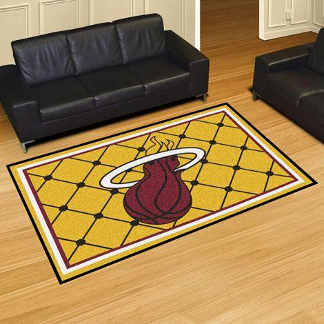 Miami Heat NBA 5x8 Plush Rug