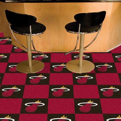 Miami Heat NBA Team Carpet Tiles