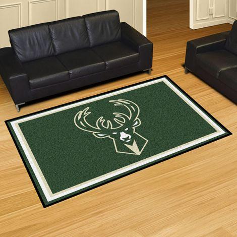 Milwaukee Bucks NBA 5x8 Plush Rug