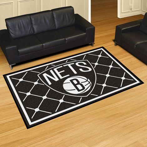 Brooklyn Nets NBA 5x8 Plush Rug