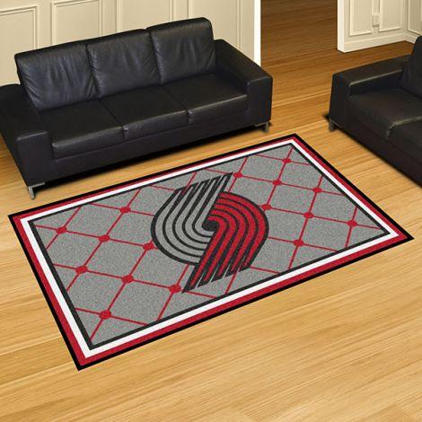 Portland Trail Blazers NBA 5x8 Plush Rug