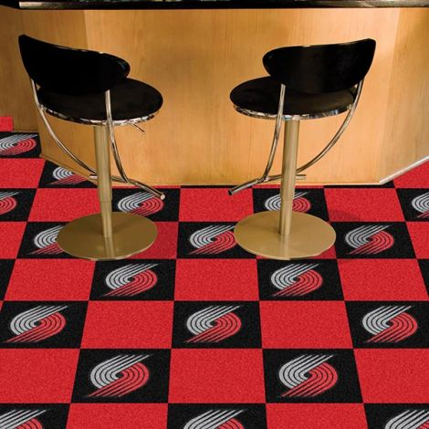 Portland Trail Blazers NBA Team Carpet Tiles