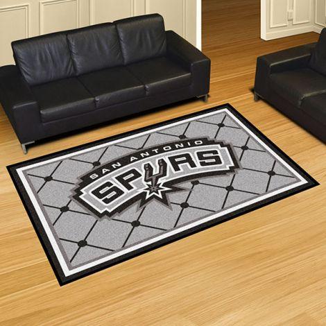 San Antonio Spurs NBA 5x8 Plush Rug