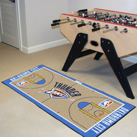 Oklahoma City Thunder NBA Court Large Runner