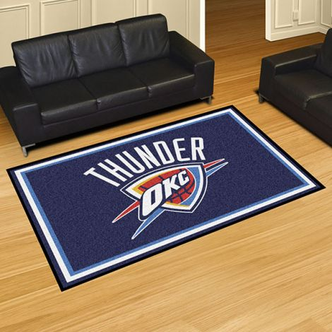 Oklahoma City Thunder NBA 5x8 Plush Rug