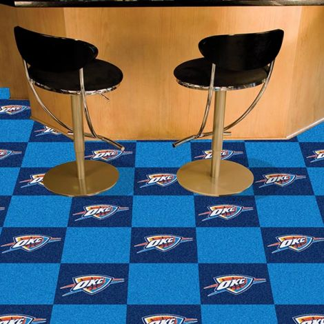 Oklahoma City Thunder NBA Team Carpet Tiles