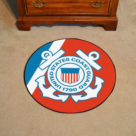 "U.S. Coast Guard 44"" Round Mat"