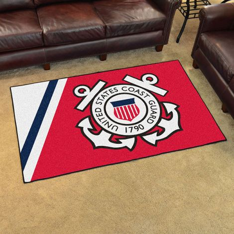 U.S. Coast Guard 4x6 Plush Rug