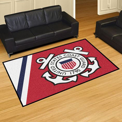 U.S. Coast Guard 5x8 Plush Rug