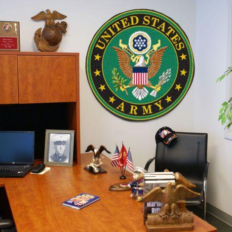 """U.S. Army 44"""" Round Mat"""