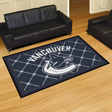 Vancouver Canucks NHL 5x8 Plush Rug