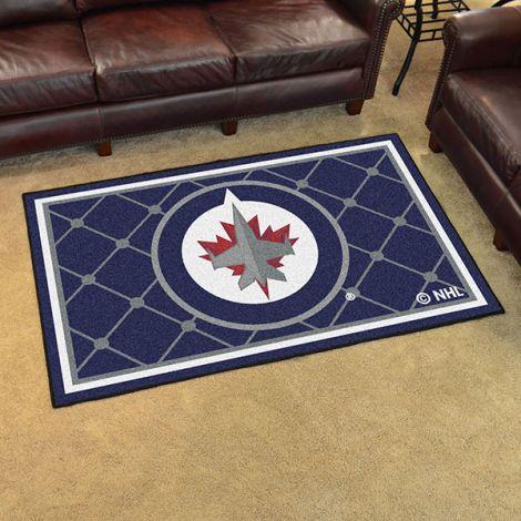 Winnipeg Jets NHL 4x6 Plush Rug
