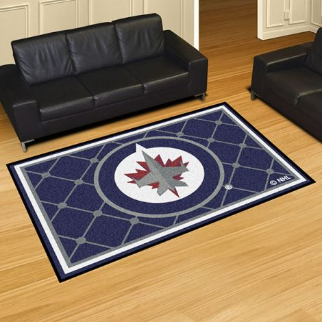 Winnipeg Jets NHL 5x8 Plush Rug