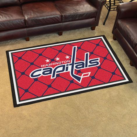 Washington Capitals NHL 4x6 Plush Rug