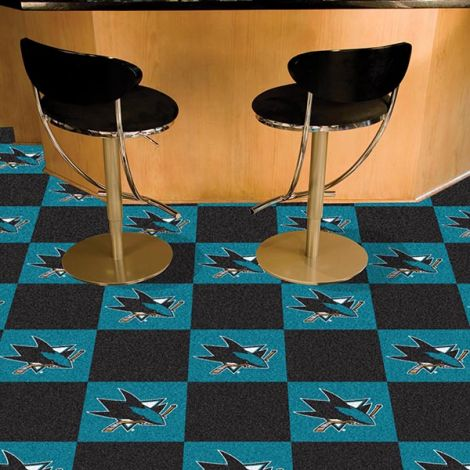 San Jose Sharks NHL Team Carpet Tiles