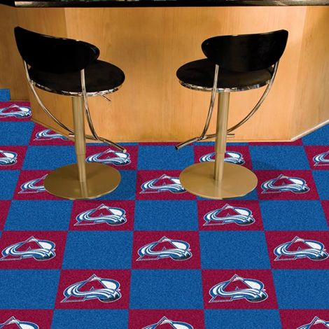 Colorado Avalanche NHL Team Carpet Tiles