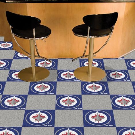 Winnipeg Jets NHL Team Carpet Tiles