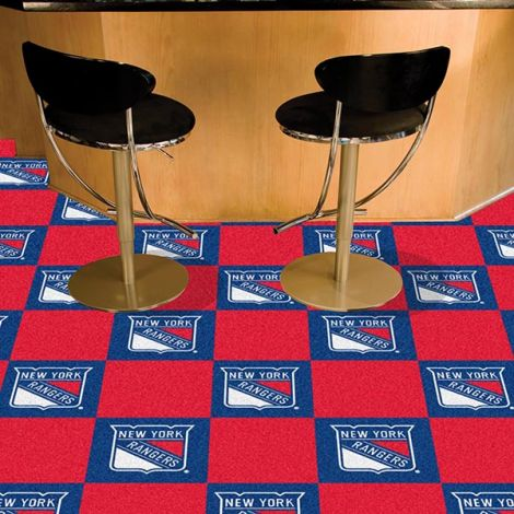 New York Rangers NHL Team Carpet Tiles
