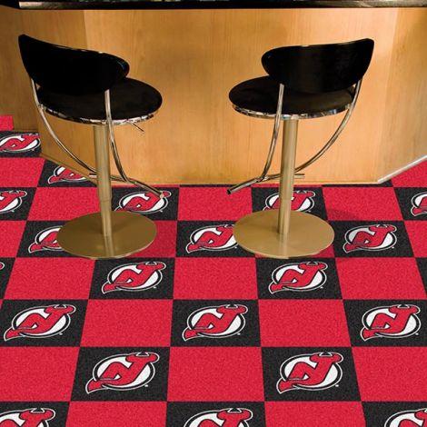 New Jersey Devils NHL Team Carpet Tiles
