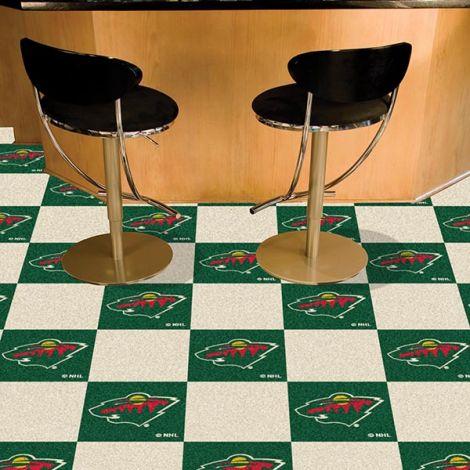 Minnesota Wild NHL Team Carpet Tiles